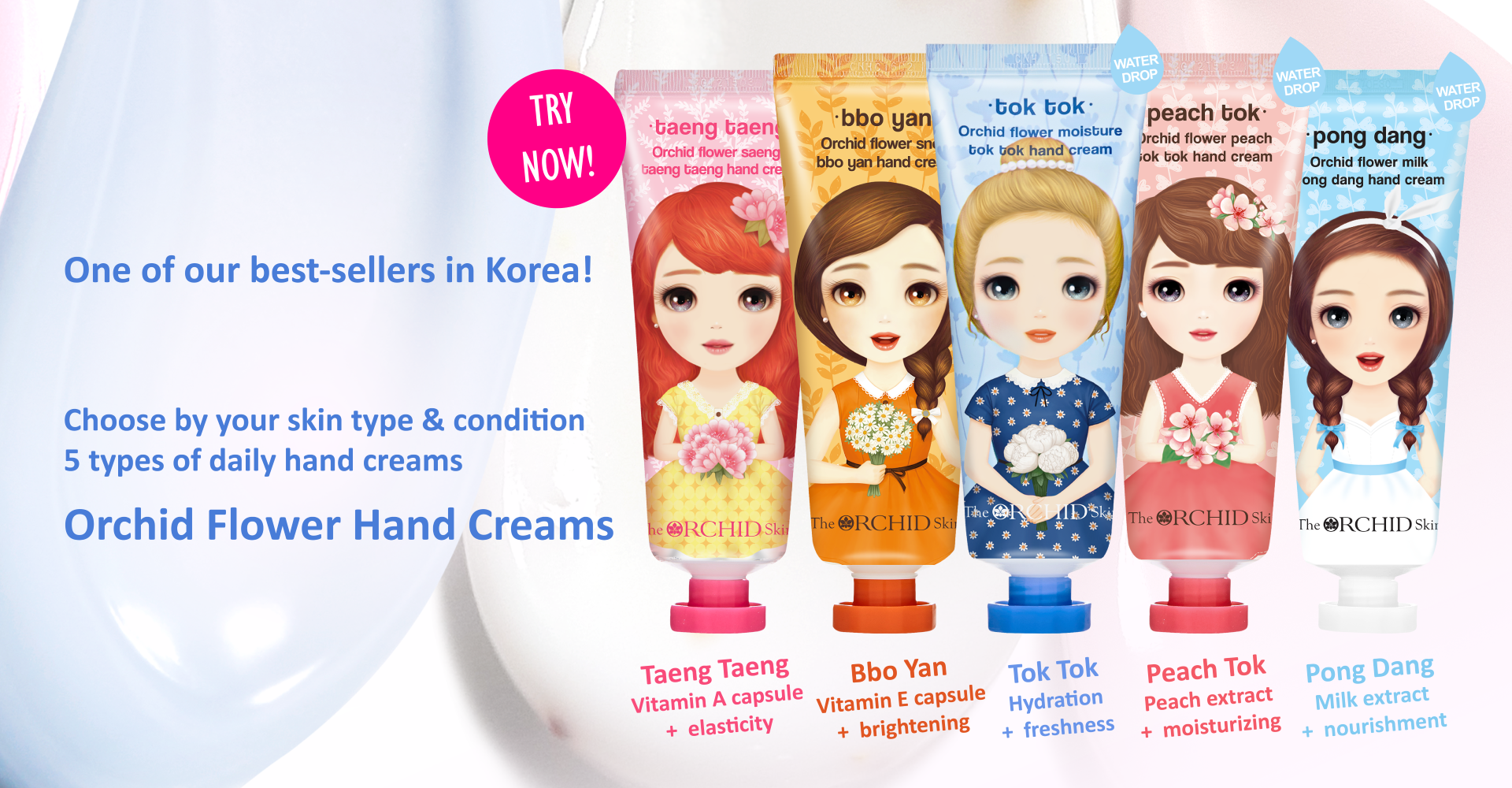 Orchid Flower Hand Creams