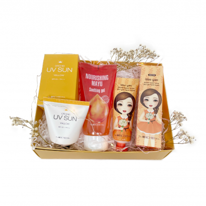 Bright & Glow Gift Set [Body, Face, Hand, Hair Care]