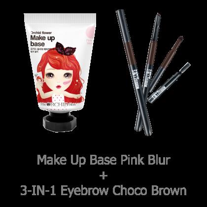 (COMBO) 3-IN-1 Eyebrow & Make Up Base Set